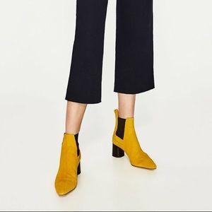 Zara mustard ankle boots✨